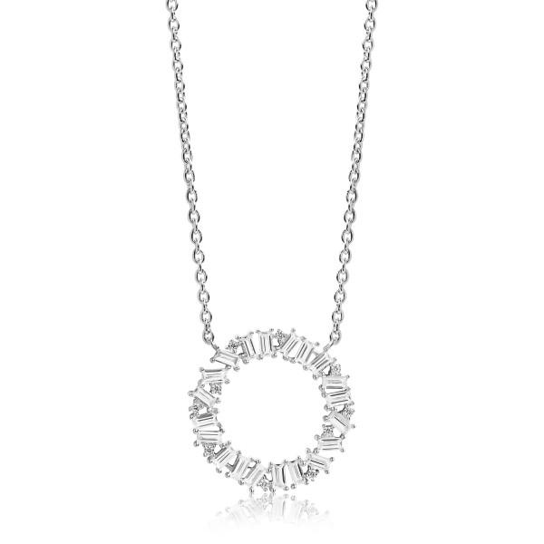 Sif Jakobs Damen Halskette Antella Circolo Grande mit weißen Zirkonia