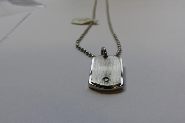 Halskette Edelstahl Inori 50 cm mit Zirkonia