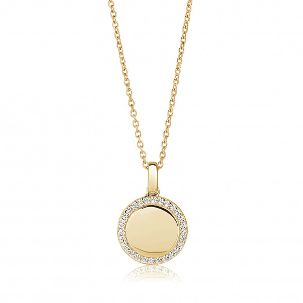 Sif Jakobs Damen Halskette Follina 18K vergoldet mit weißen Zirkonia