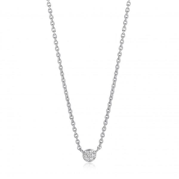 Sif Jakobs Damen Halskette Cecina 925er Silber mit weißen Zirkonia