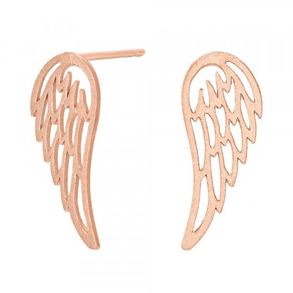 Ohrstecker Damen Ohrringe Flügel 13mm