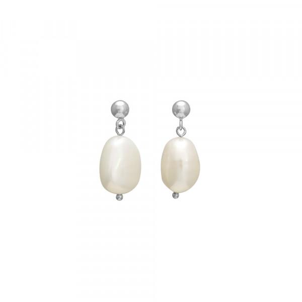 Nordahl Jewellery Damen-Ohrstecker aus Sterlings Silber mit Süßwasserperlen