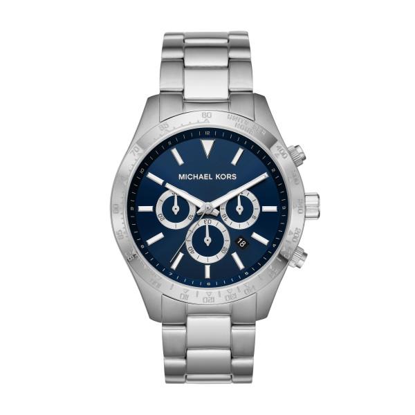 Michael Kors Uhr Herren Blau Silber Chronograph Quarz