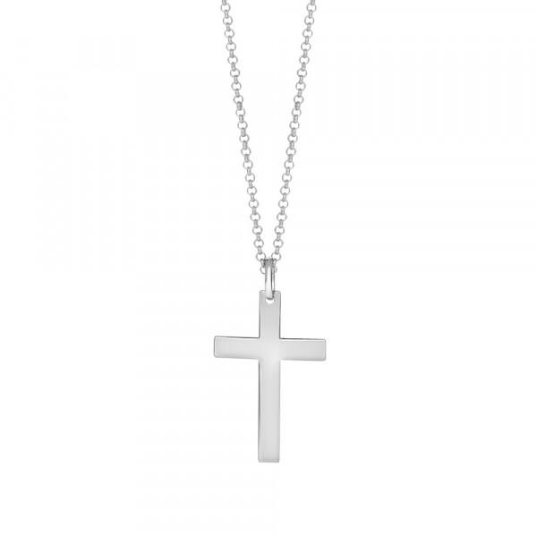 SON of NOA Herren-Halskette Halskette silber mit Kreuzanhänger