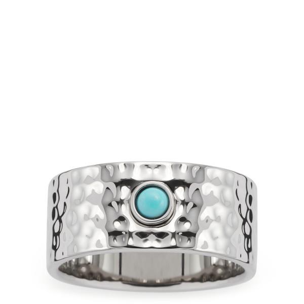Damen-Ring, LEONARDO Edelstahl silber synthetische Cabochon Dana