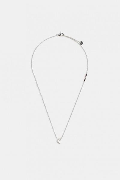 Esprit Damen Halskette Halbmondanhänger 925er Silber