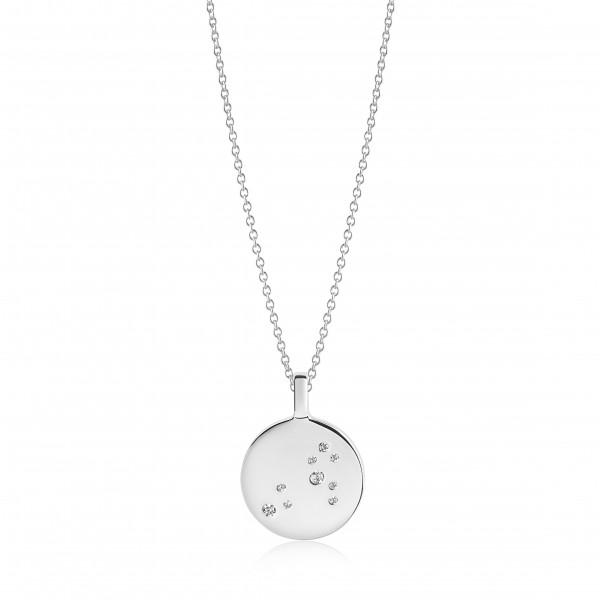 Halskette Zodiaco Löwe mit weißen Zirkonia