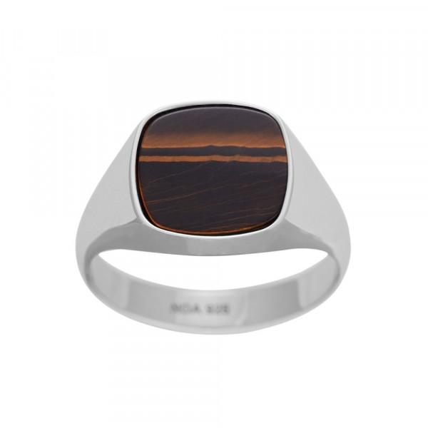 SON of NOA Herren-Ring Ring Silber mit Tigerauge