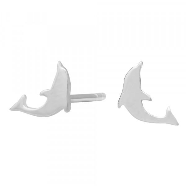 Kinder-Ohrstecker, NOA KIDS JEWELLERY silber rhod. Delfin