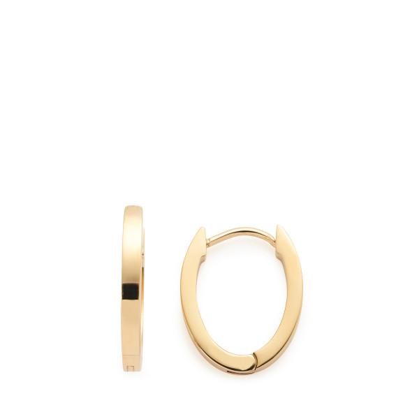 Damen-Ohrringe Creolen, LEONARDO Edelstahl goldfarbene IP-Beschichtung ovale Form 2/17/13mm Ronia