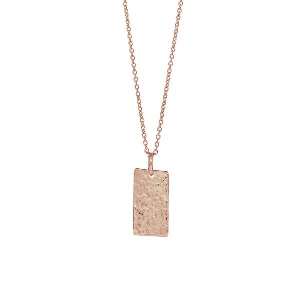 Rosévergoldet Silber Halskette TWO-SIDED 10x17mm